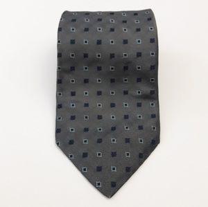 Nautica Men's Tie 100% Silk Gray Blue Necktie